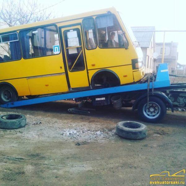 Перевозка и эвакуация автобусов в Крыму 2